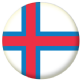 Faroe Islands Country Flag 25mm Pin Button Badge